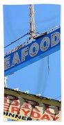Seafood Sign Bath Towel