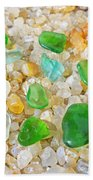 Seaglass Green Art Prints Agates Beach Garden Bath Towel