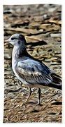 Seagull On The Beach Bath Towel