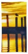 Seagull Sunset Bath Towel