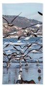 Seagulls Seagulls And More Seagulls Bath Towel
