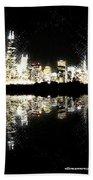 Sears Tower Dominated Skyline Lake Reflection  Bath Towel