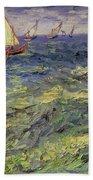 Seascape At Saintes-maries 1888 Bath Towel