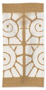 Seashell Tiles Hand Towel by Linda Woods