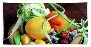 Seasonal Fruit And Vegetables Bath Towel