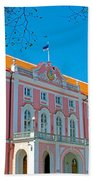 Seat Of Parliament In Old Town Tallinn-estonia Bath Towel