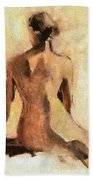 Seated Nude Bath Towel