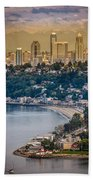 Seattle From The Air Bath Towel
