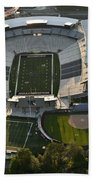 Seattle With Aerial View Of The Newly Renovated Husky Stadium Bath Towel