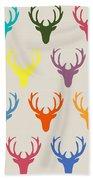 Seaview Simple Deer Heads Bath Towel