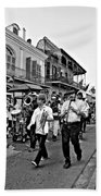 Second Line Parade Bw Bath Towel