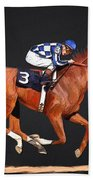 Secretariat And Turcotte Hand Towel