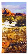 Sedona Winter Painting Bath Towel