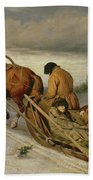 Seeing Off The Dead, 1865 Oil On Canvas Bath Towel