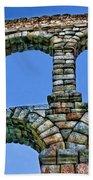 Segovia Aqueducts Blue By Diana Sainz Bath Towel