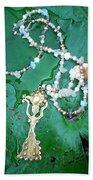 Self-esteem Necklace With Offerings Goddess Pendant Bath Towel