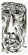 Self-portrait As An Old Man Bath Towel