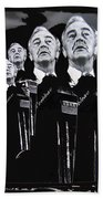 Senator Eugene Mccarthy  Collage Democratic Nat'l Convention Miami Beach Florida 1972-2012  Bath Towel
