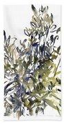 Senecio And Other Plants Bath Towel