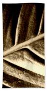 Sepia Leaf Bath Towel