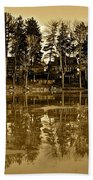 Sepia Reflection Bath Towel