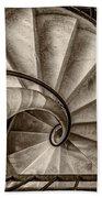 Sepia Spiral Staircase Bath Towel