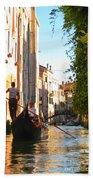 Serene Venice Scene Bath Towel