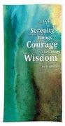 Serenity Prayer 2 - By Sharon Cummings Bath Towel