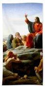 Sermon On The Mount Watercolor Bath Towel