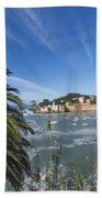 Sestri Levante With Palm Tree Bath Towel