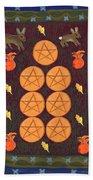 Seven Of Pentacles Bath Towel