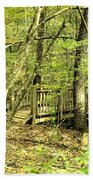Shades Mountain Bridge In The Forest Bath Towel
