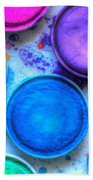 Shades Of Blue Watercolor Bath Towel