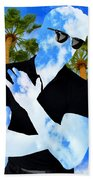 Shadow Man Palm Springs Bath Towel