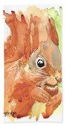 Shadow Tail Red Squirrel Bath Towel