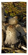 Shaggy Ink Caps - Coprinus Comatus Bath Towel
