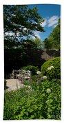 Shakespeares Garden Central Park Bath Towel