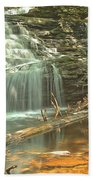 Shawnee Falls At Ricketts Glen Bath Towel