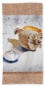 She Sells Sea Shells Decorative Collage Bath Towel