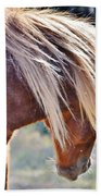 She Tossed Her Mane - Wild Pony Of Assateague Bath Towel