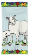Sheep Artist Sheep Art II Hand Towel