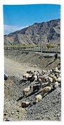 Sheep Crossing The Road To Shigatse-tibet  Bath Towel