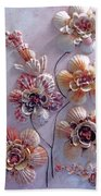 Shell Flowers  No 1  Bath Towel