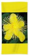 Shimmer Yellow Flower Bath Towel