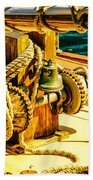 Ships Bell Sailboat Bath Towel