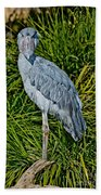 Shoebill Stork Bath Towel