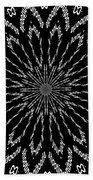 Shooting Star Black And White Kaleidoscope Bath Towel
