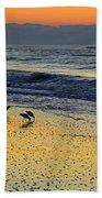 Shorebirds At Dawn Bath Towel