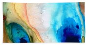 Shoreline - Abstract Art By Sharon Cummings Bath Towel