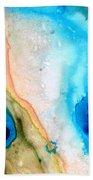 Shoreline - Abstract Art By Sharon Cummings Bath Towel